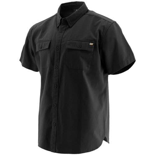 Caterpillar Button Up S/S Shirt Shirts Black